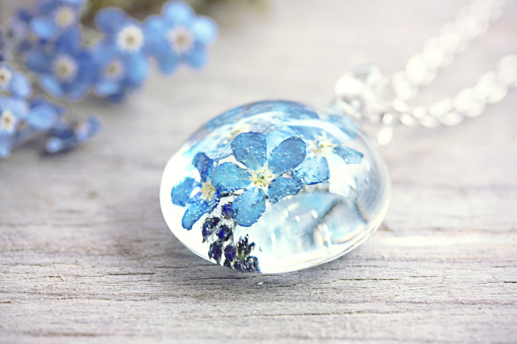Forget Me Not Necklace Real