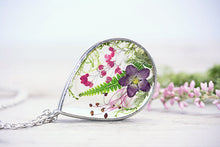 Real Dried Flower Necklace Fern