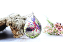 Real Dried Flower Necklace Cornflower