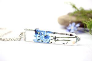 Forget Me Not Necklace Crystal