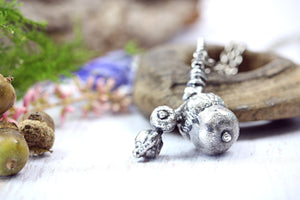 Real Acorn Necklace Autumn Gift