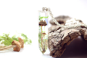 Real Mushroom Necklace Toadstool Jewelry