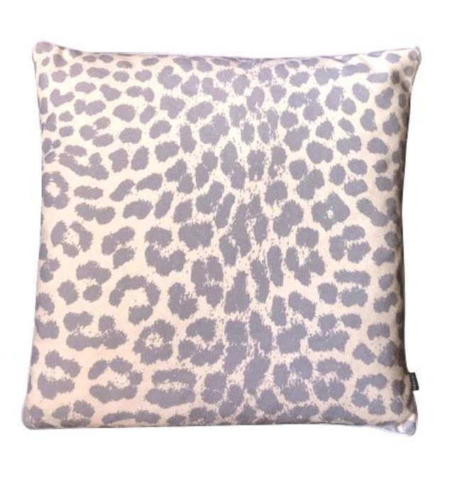 GREY LEOPARD CUSHION COVER