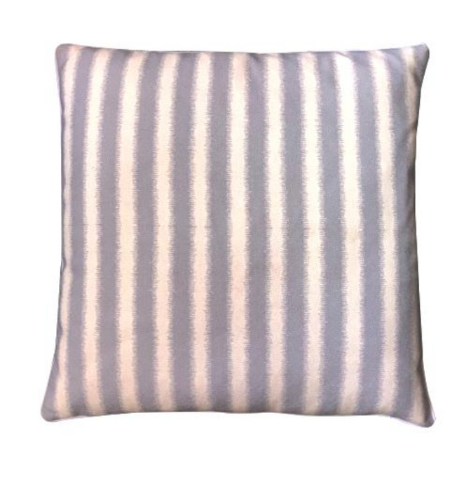 Grey stripe cushion cover
