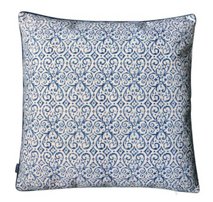 BLUE SWIRL CUSHION COVER