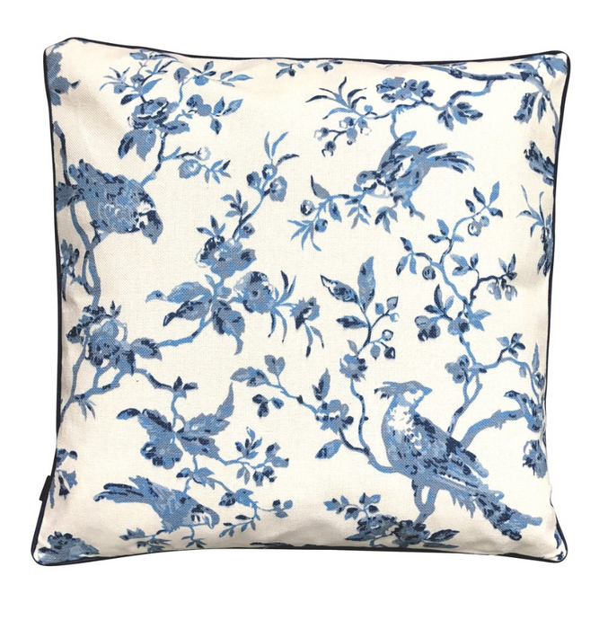 BLUE CHINOISERIE CUSHION COVER