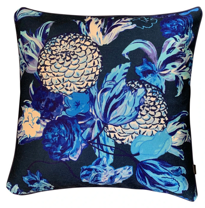 BLUE BLOOMS CUSHION COVER