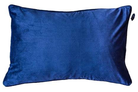 DARK BLUE VELVET RECTANGLE CUSHION