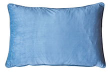LIGHT BLUE VELVET RECTANGLE CUSHION