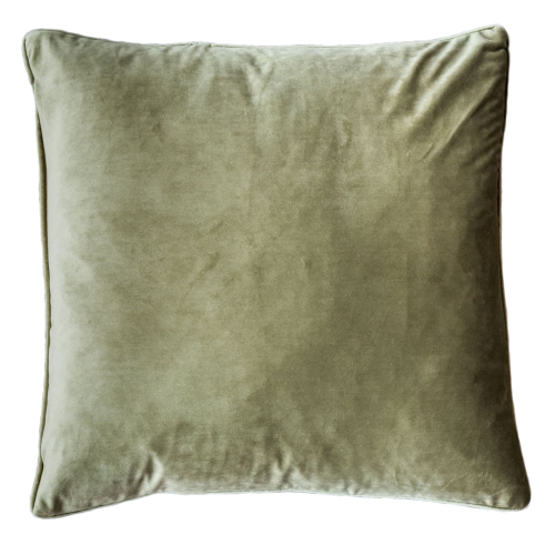 GREEN VELVET CUSHION COVER