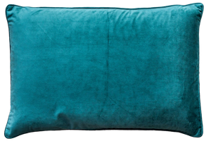 TURQUOISE VELVET RECTANGLE CUSHION COVER