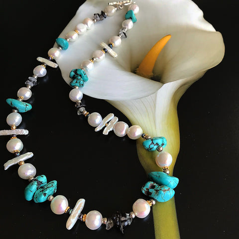 Pearl and Turquoise Necklace After