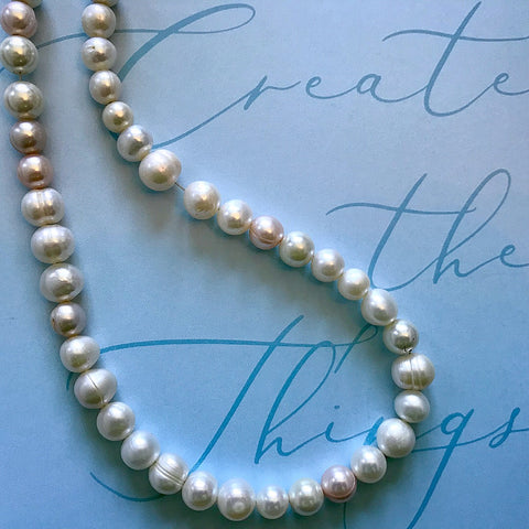Pearl Necklace Before
