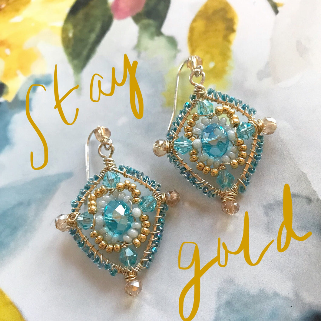 """Stay Gold"" Earrings"