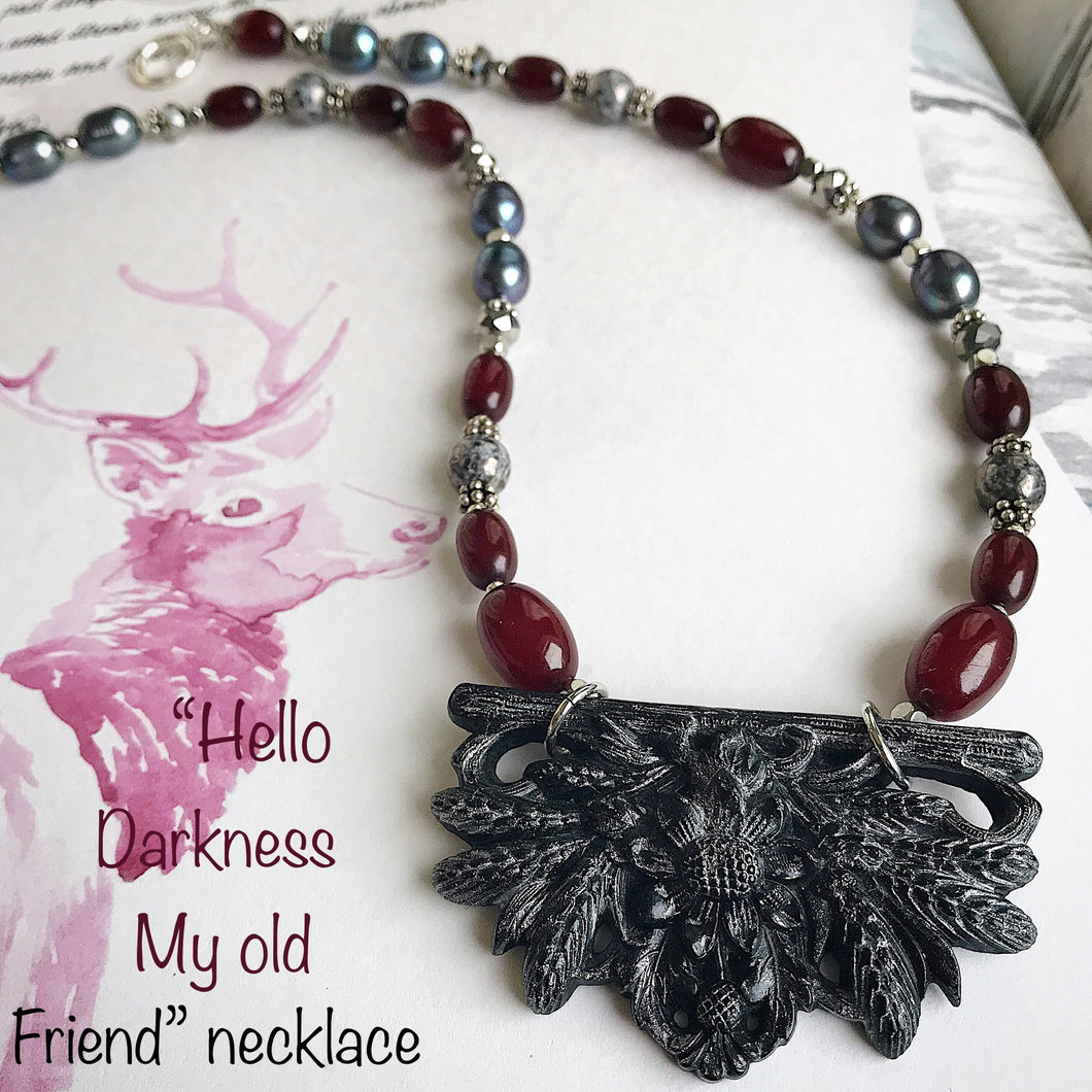 Hello Darkness My Old Friend Necklace