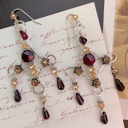 Love Lies Bleeding Earrings