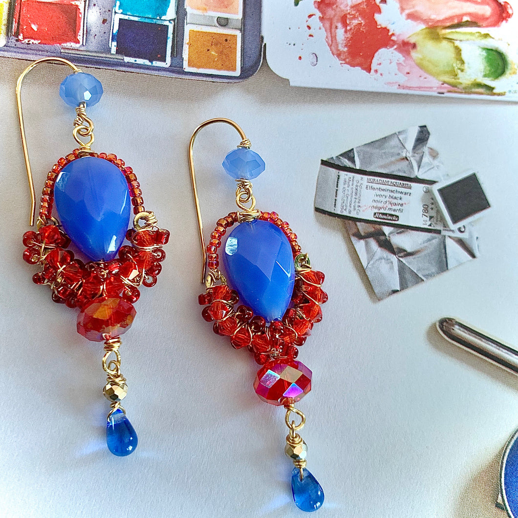 Put On Your Red Shoes And Dance The Blues Earrings