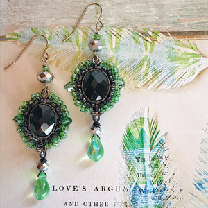 Green Eyed Monster Earrings