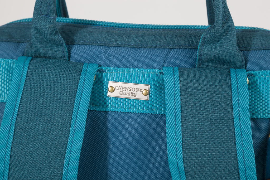 Tote-backpack usb mediana azul