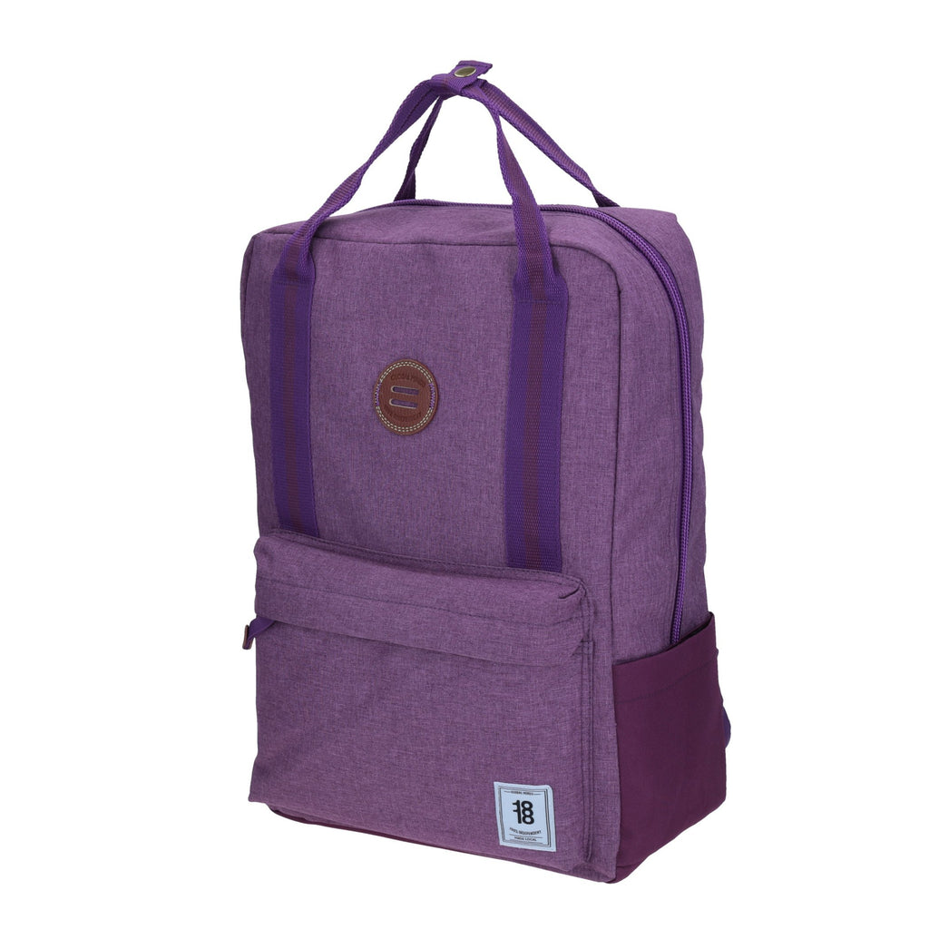 Tote-backpack sized morado