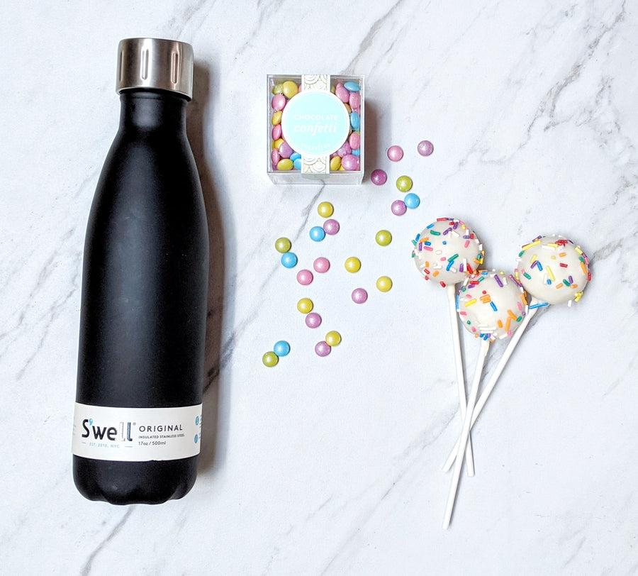 Black Bottle Confetti Gift Box