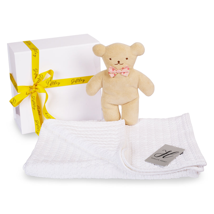 Snuggle Bear & Blanket Baby Gift Box