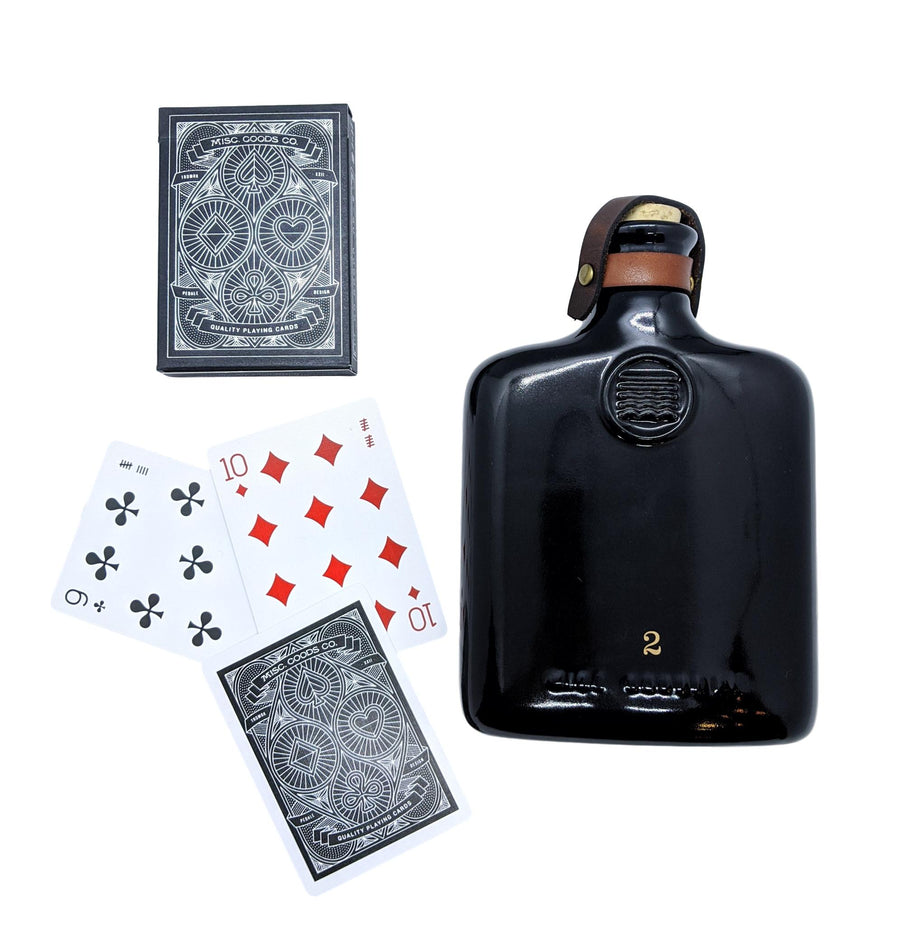 Flask & Playing Cards Gift Box