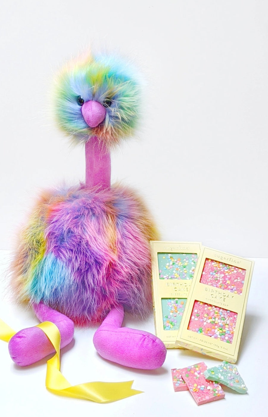 Rainbow Pom Pom Birthday Gift Box