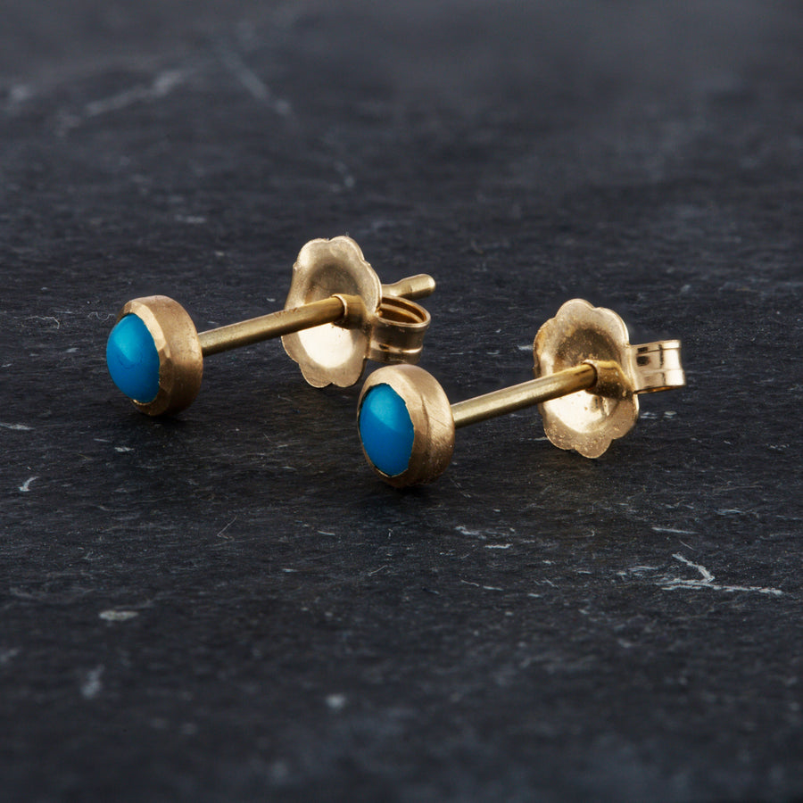 Sleeping Beauty Turquoise 14K Mini Studs
