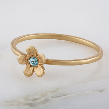 Buttercup Blue Zircon 14K Ring