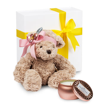 Vintage Flower Bear Gift Box