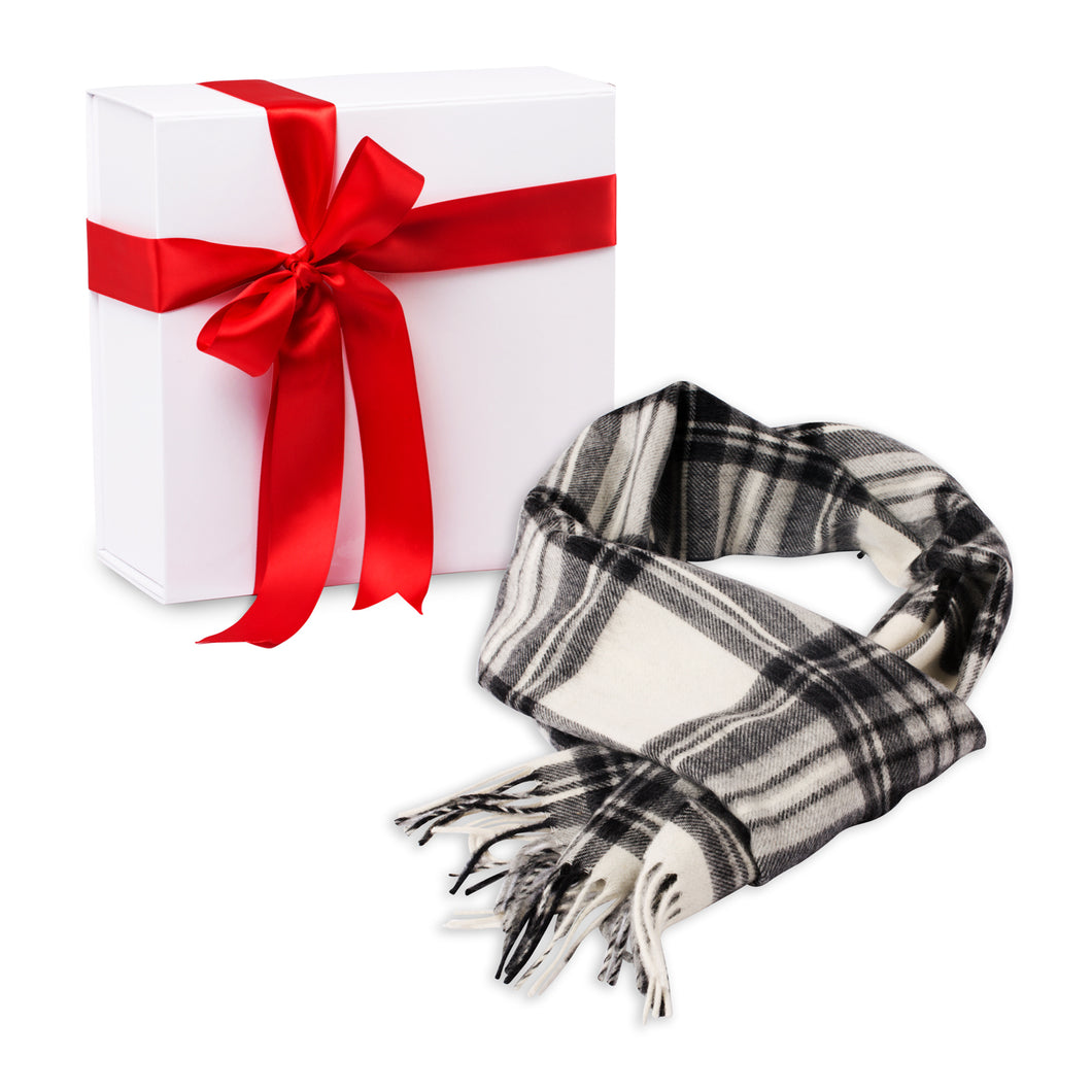 Pearl/Coal Plaid Scarf