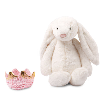 Bashful Bunny with Crochet Crown