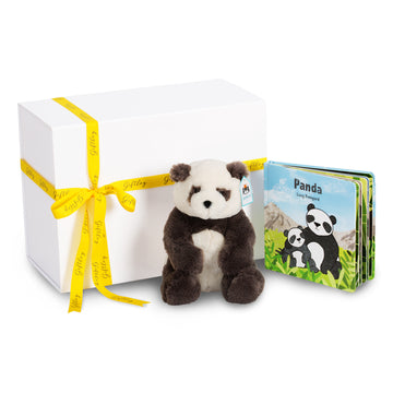 JellyCat Harry Panda & Book Set