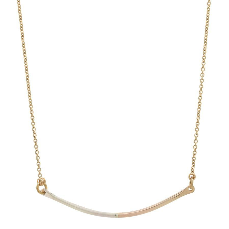 Two Tone Bar Necklace