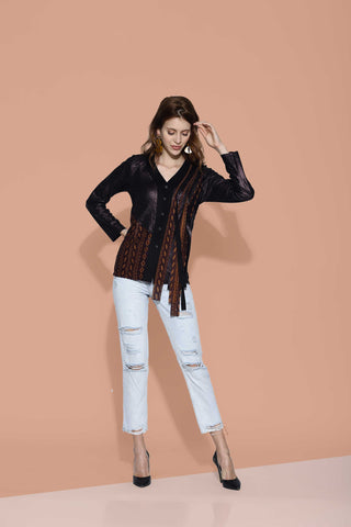 Yena Fringe Shirt Jacket