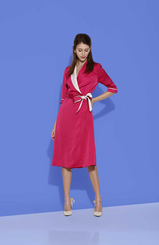 Aubrey Satin Pink Dress