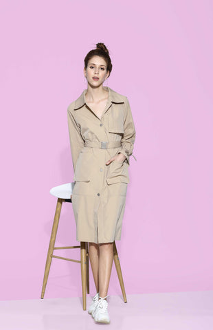 Anna Trench Dress
