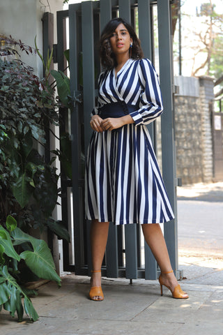 English Stripped Dress