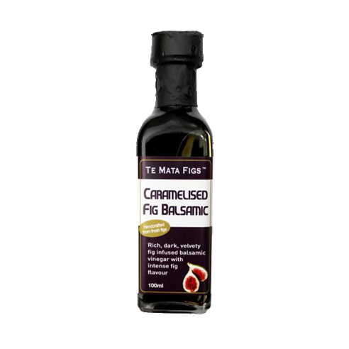 Medium dark bottle of caramelised fig balsamic