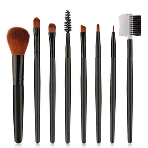 8Pcs/set Makeup Brushes Tools Kit Power Foundation Blush Eye Shadow Blending Fan Cosmetic Beauty Make Up Brush Maquiagem