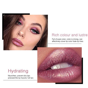 18 Color Glitter Lipstick  Waterproof