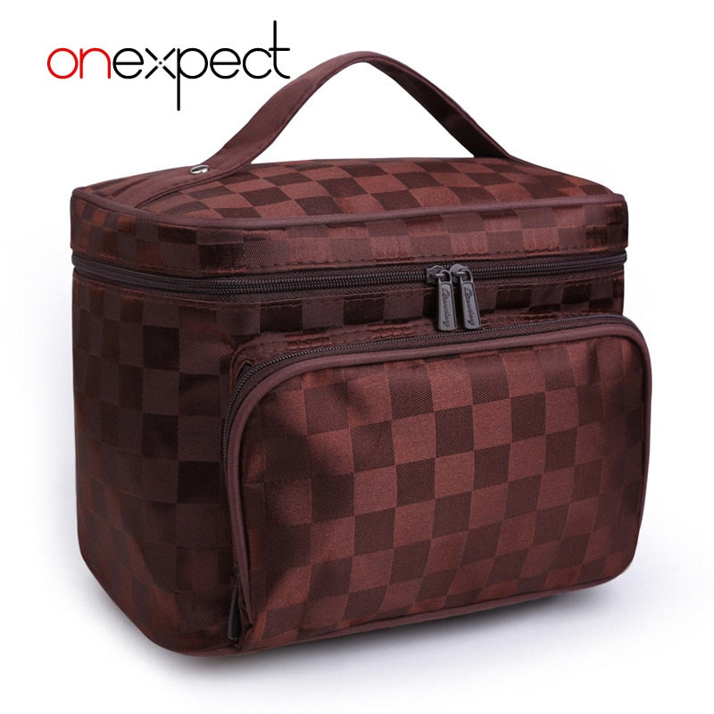 onexpect 2018 Luxury Cosmetic Bag Professional Makeup Travel Bag