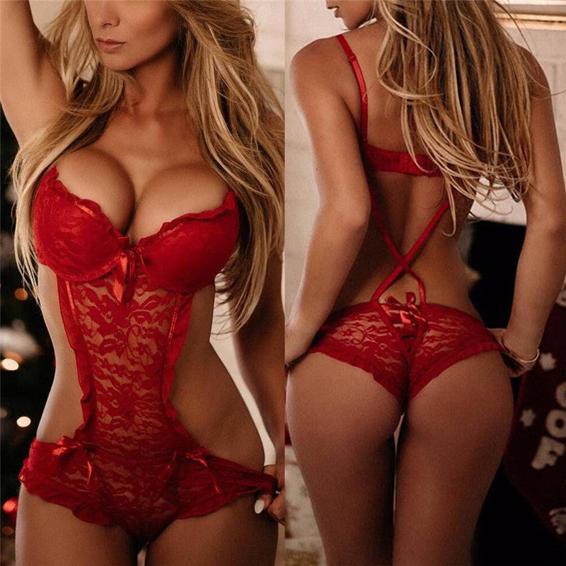 Sexy Costumes Lace Nightgowns Sleepwear Babydolls Red Teddies Sexy Lingerie Hot Sexy Underwear