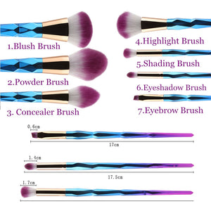 New Arrivals 7/10pcs Makeup Brushes Set Powder Foundation Eye Shadow Face Blush Blending Cosmetics Beauty Make Up Brush Tool Kit