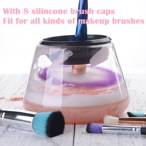 Electric Makeup Brush Cleaner & Dryer Set Cleans & Drys  In Seconds