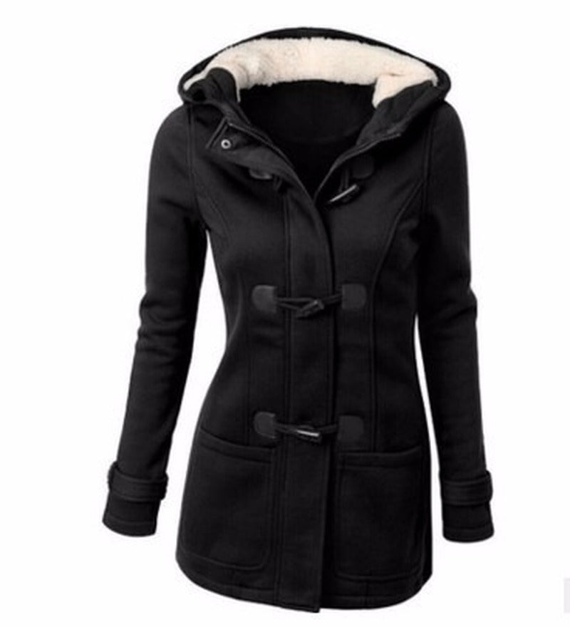 Hooded Winter Parka Plus Size Women Thick  Snow Coat