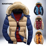 Men's Winter Parkas Fur Hooded Coats