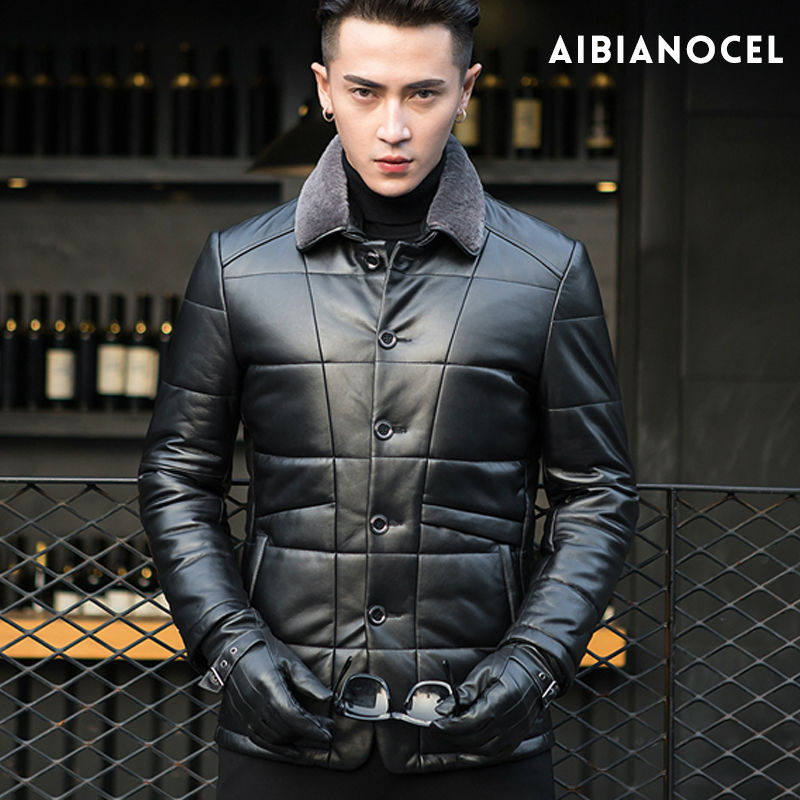 100% Sheepskin Genuine Leather Coat