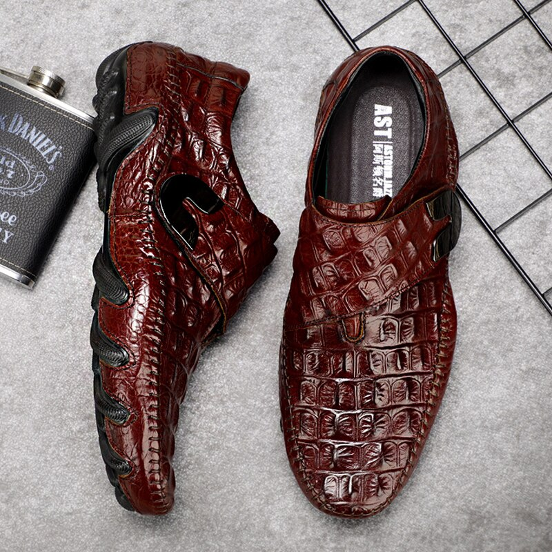 Men's Leather Casual  Crocodile Loafer...Genuine Leathers Moccasins